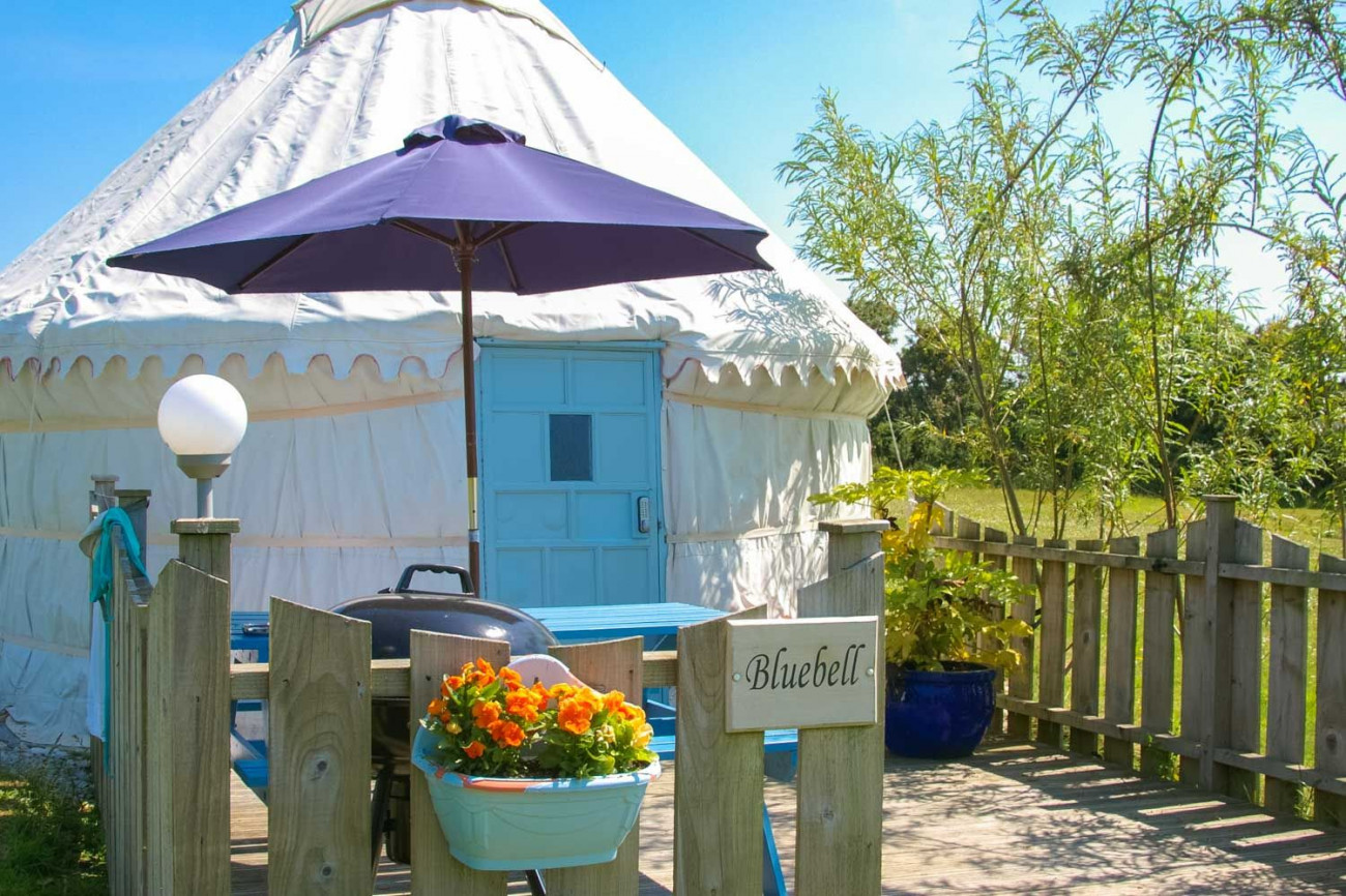 Bluebell Yurt a british holiday cottage for 4 in ,
